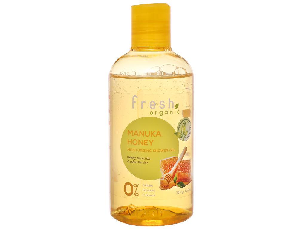 Gel tắm dưỡng ẩm Fresh Organic mật ong Manuka 250g 1
