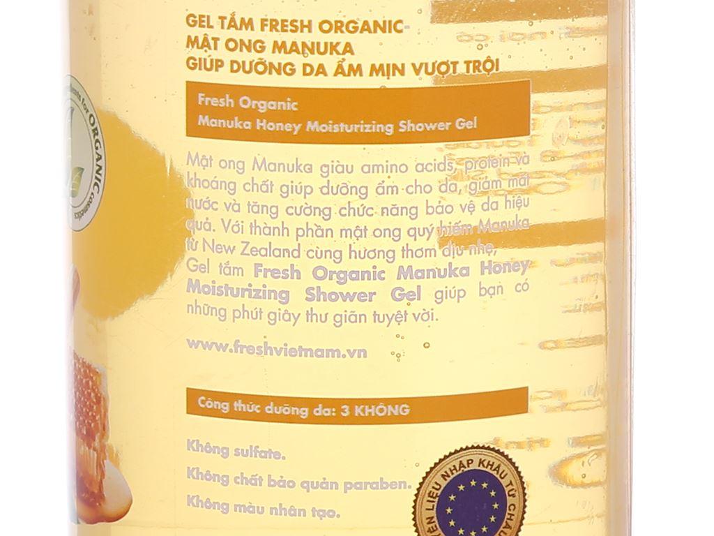 Gel tắm dưỡng ẩm Fresh Organic mật ong Manuka 250g 4