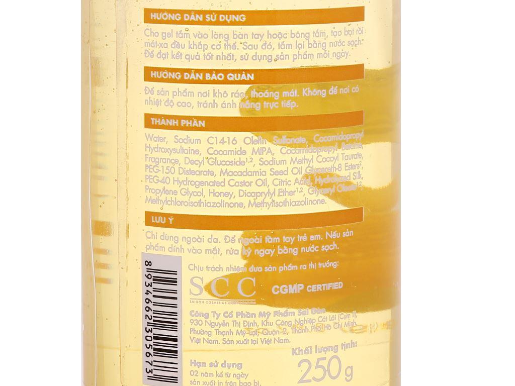 Gel tắm dưỡng ẩm Fresh Organic mật ong Manuka 250g 5