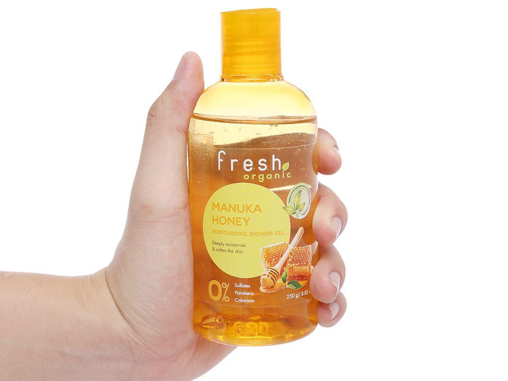 Gel tắm dưỡng ẩm Fresh Organic mật ong Manuka 250g 6