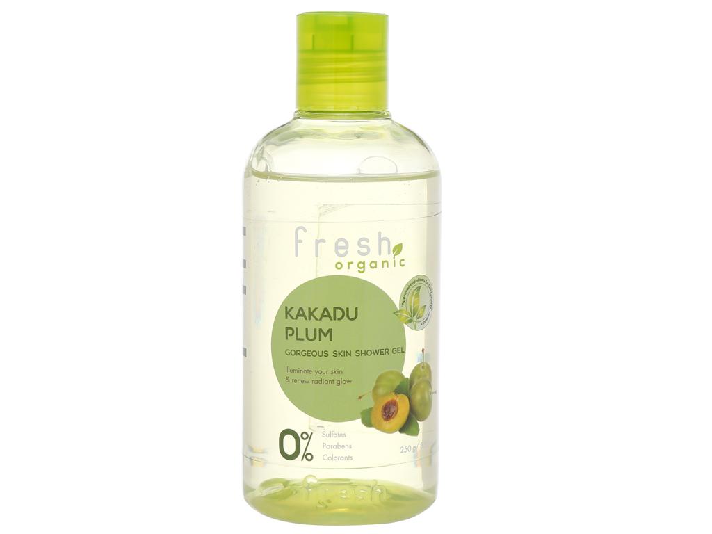Gel tắm sáng da Fresh Organic mận Kakadu 250g 1