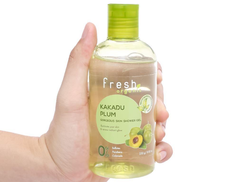 Gel tắm sáng da Fresh Organic mận Kakadu 250g 5