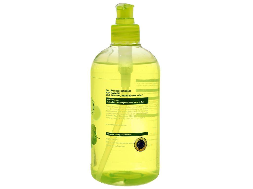 Gel tắm sáng da Fresh Organic mận Kakadu 500g 2