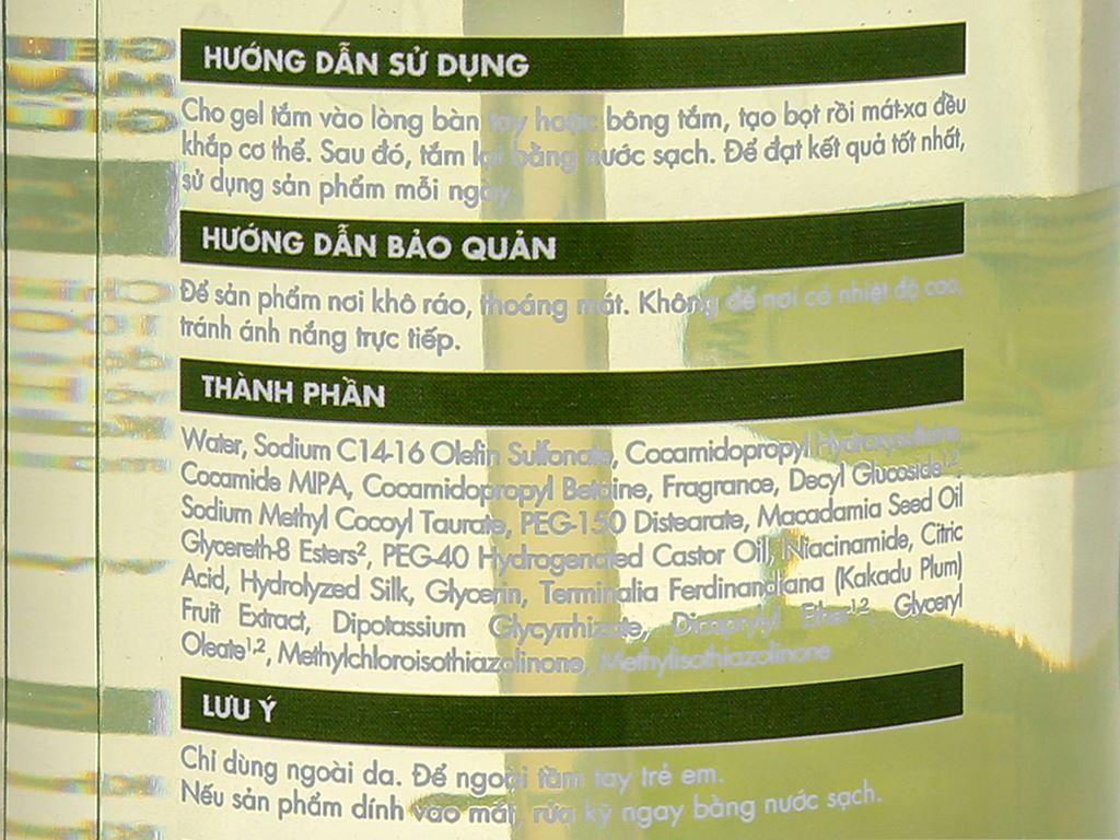 Gel tắm sáng da Fresh Organic mận Kakadu 500g 5