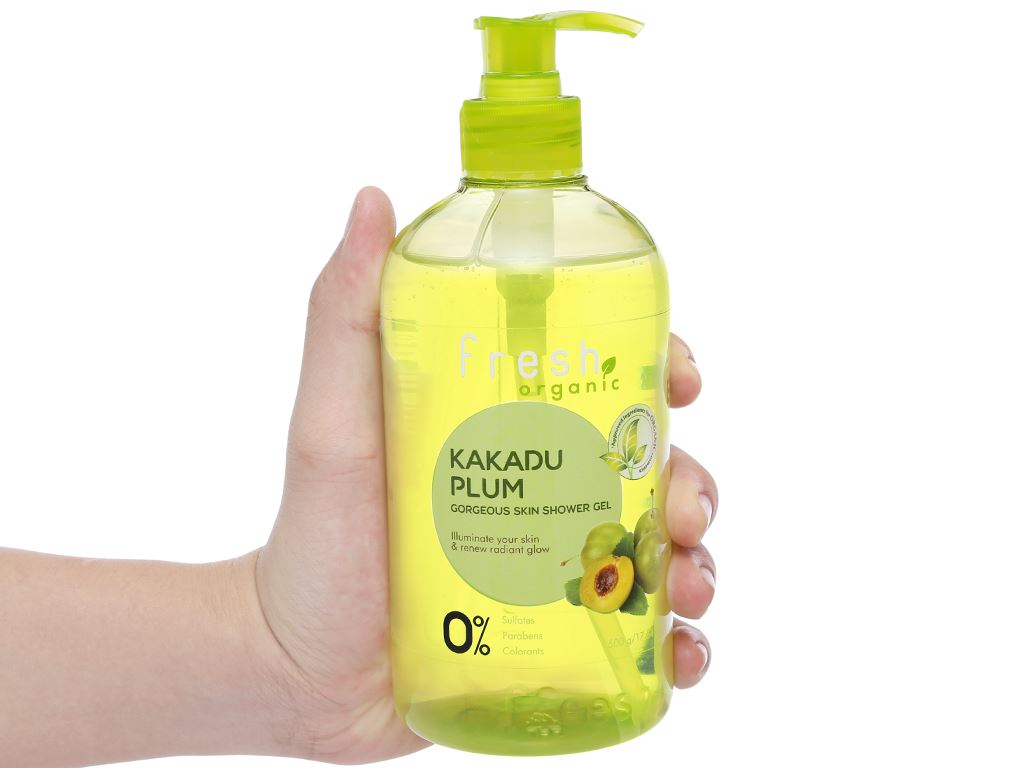 Gel tắm sáng da Fresh Organic mận Kakadu 500g 6