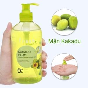 Gel tắm sáng da Fresh Organic mận Kakadu 500g