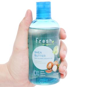 Gel tắm cho da nhạy cảm Fresh Organic bơ hạt mỡ và dưỡng chất 250g