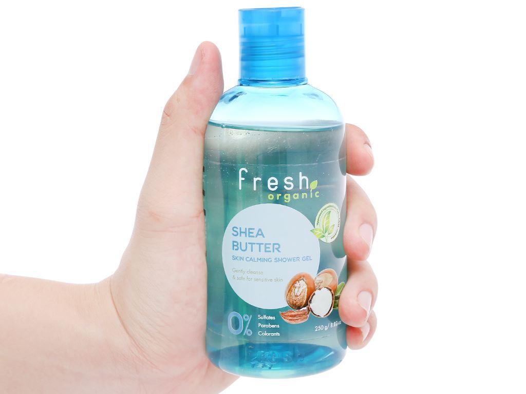 Gel tắm cho da nhạy cảm Fresh Organic bơ hạt mỡ và dưỡng chất 250g 5