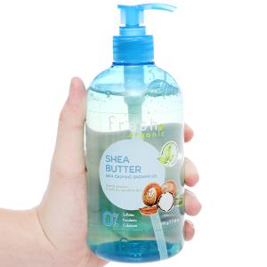 Gel tắm cho da nhạy cảm Fresh Organic bơ hạt mỡ và dưỡng chất 500g