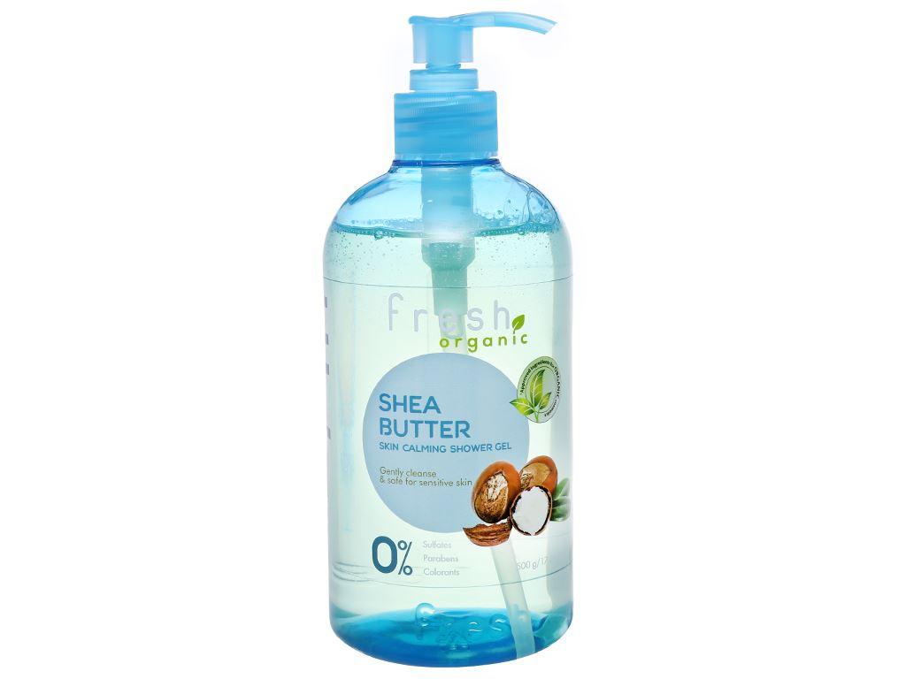Gel tắm cho da nhạy cảm Fresh Organic bơ hạt mỡ và dưỡng chất 500g 1