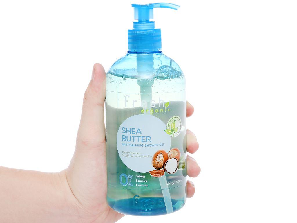 Gel tắm cho da nhạy cảm Fresh Organic bơ hạt mỡ và dưỡng chất 500g 5
