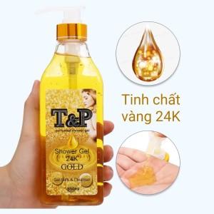 Gel tắm nước hoa T&P Gold 24K 650ml