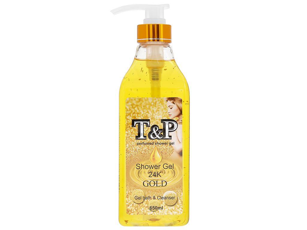 Gel tắm nước hoa T&P Gold 24K 650ml 1
