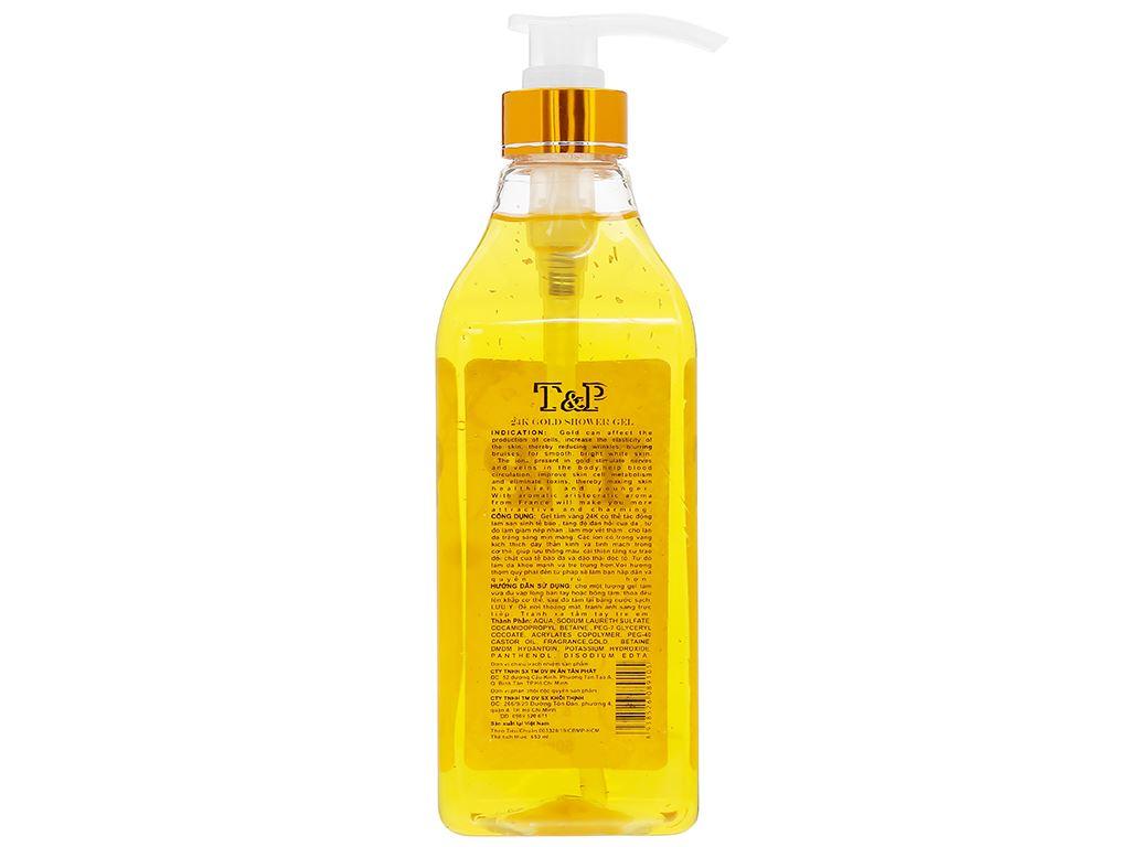 Gel tắm nước hoa T&P Gold 24K 650ml 2