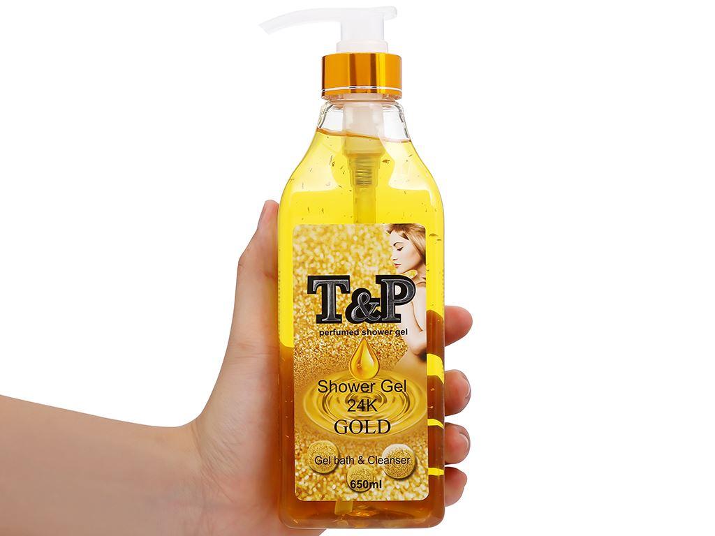 Gel tắm nước hoa T&P Gold 24K 650ml 4