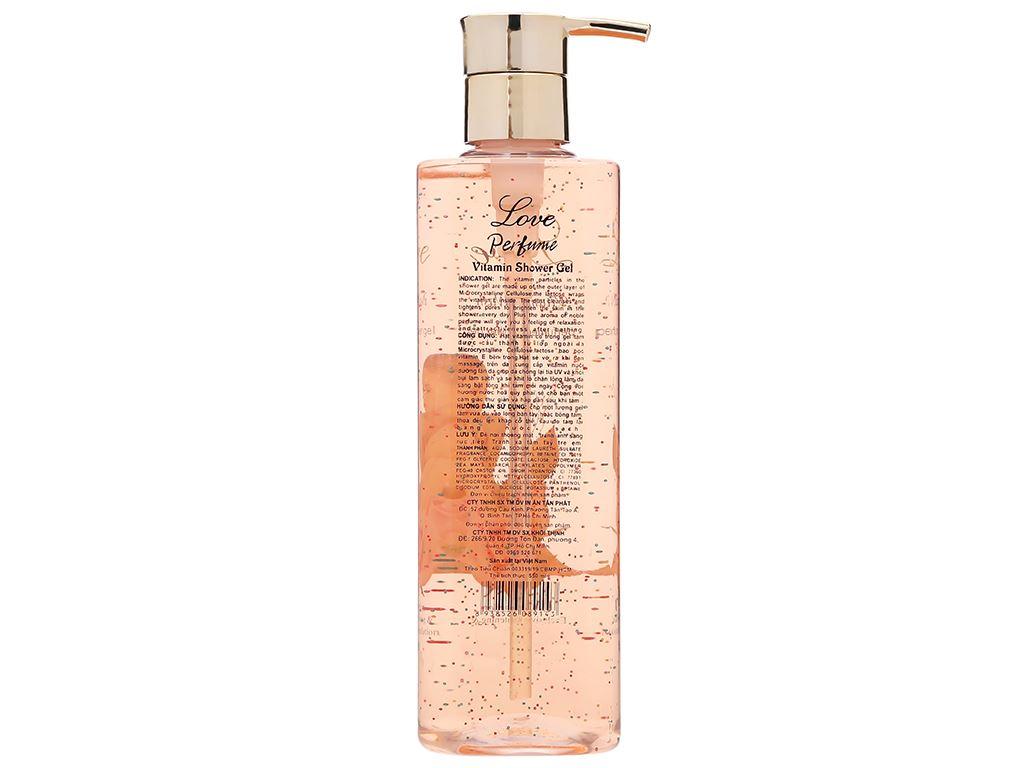 Gel tắm nước hoa Love Vitamin 550ml 2