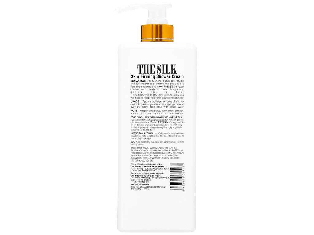 Sữa tắm hương nước hoa TheSilk hoa hồng đỏ 800ml 2