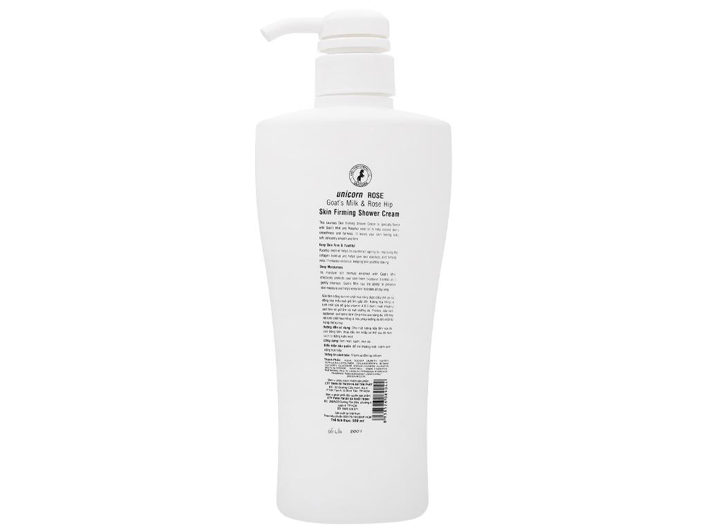 Sữa tắm trắng da Unicorn Rose tinh chất hoa hồng 550ml 2