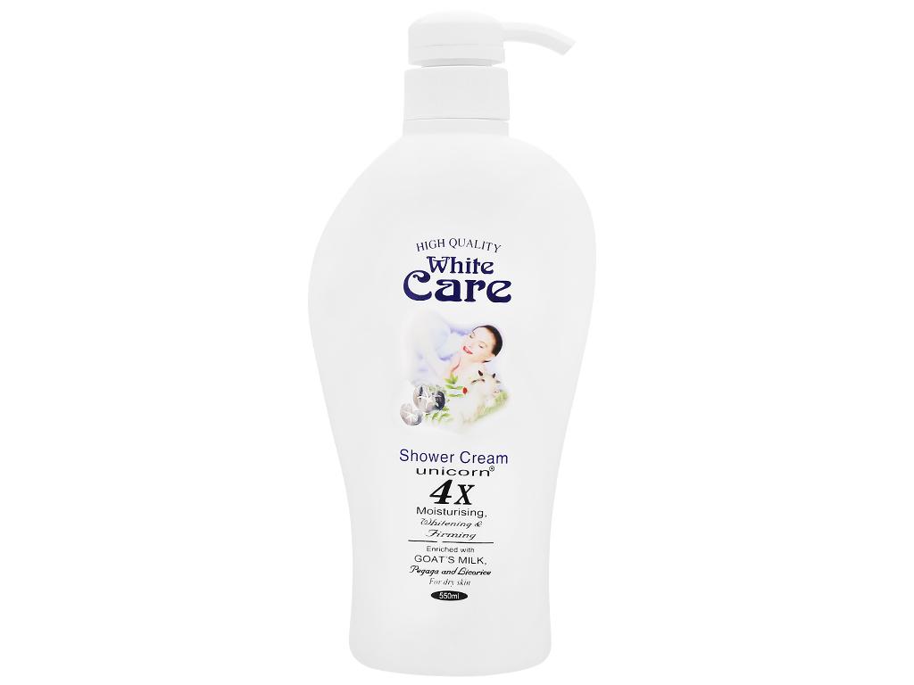 Sữa tắm Unicorn White Care tinh chất sữa dê 550ml 1