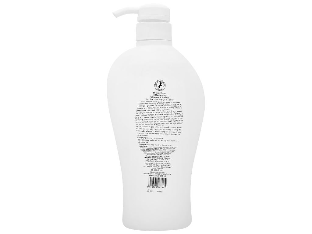 Sữa tắm Unicorn White Care tinh chất sữa dê 550ml 2