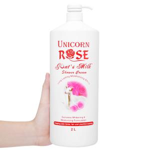 Sữa tắm trắng da Unicorn Rose tinh chất hoa hồng 2 lít