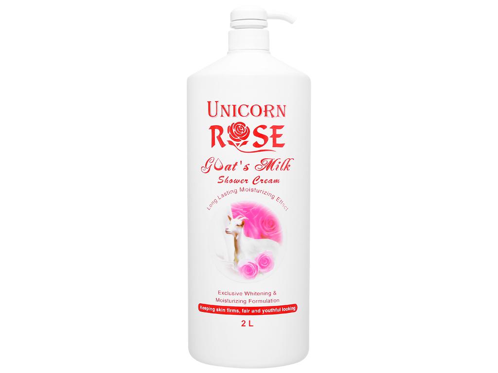 Sữa tắm trắng da Unicorn Rose tinh chất hoa hồng 2 lít 1