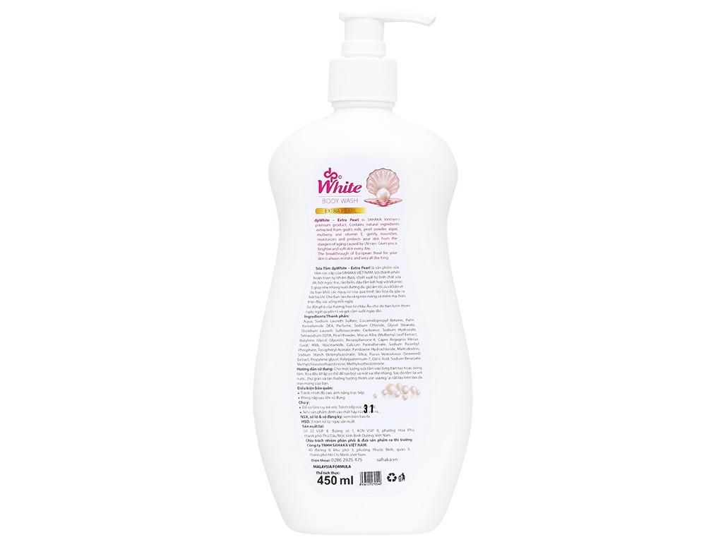 Sữa tắm dpWhite bột ngọc trai 450ml 2