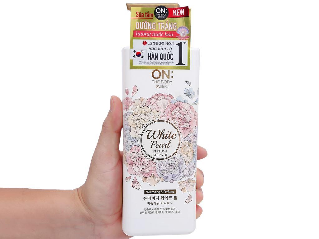 Sữa tắm dưỡng trắng ON THE BODY hương nước hoa 500g 4