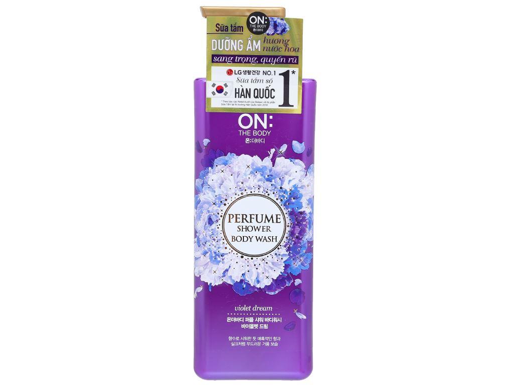 Sữa tắm dưỡng ẩm ON THE BODY hương nước hoa sang trọng quyến rũ 500g 1