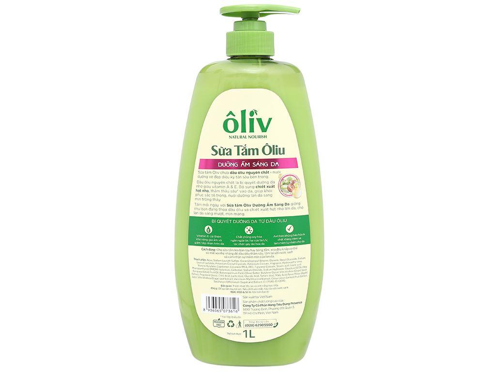 Sữa tắm ôliu Ôliv dưỡng ẩm sáng da 1 lít 2