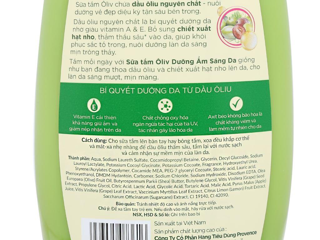 Sữa tắm ôliu Ôliv dưỡng ẩm sáng da 1 lít 3