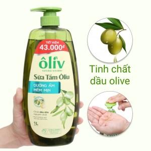 Sữa tắm ôliu Ôliv dưỡng ẩm mềm mịn 1 lít