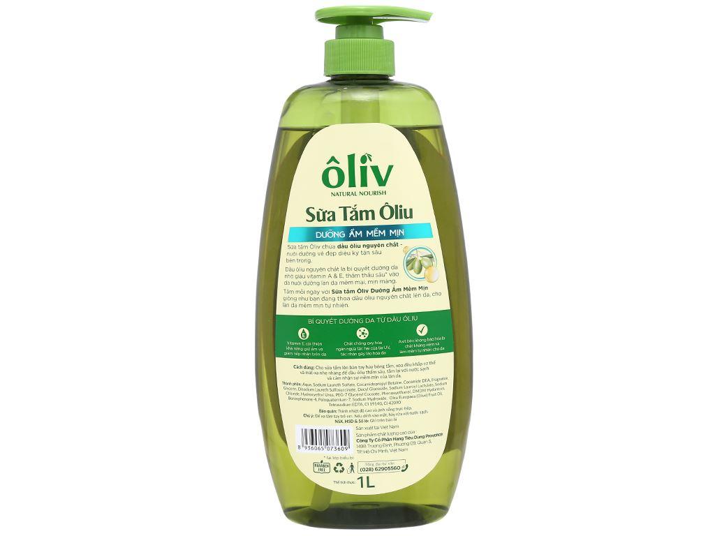 Sữa tắm ôliu Ôliv dưỡng ẩm mềm mịn 1 lít 2