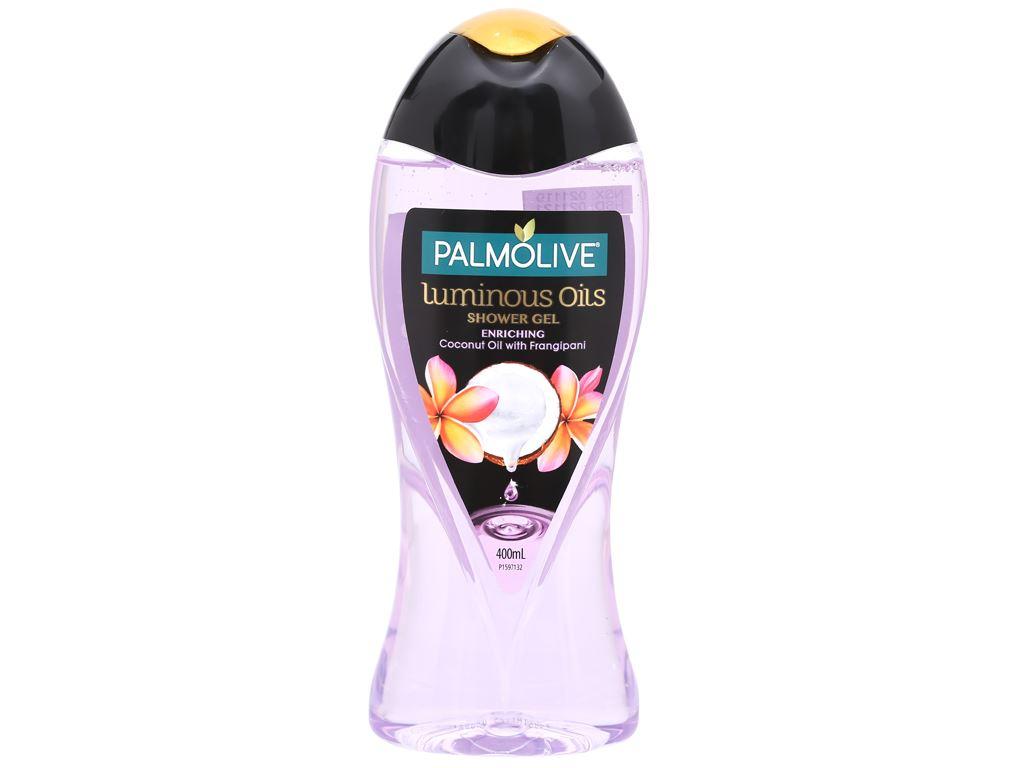 Dầu tắm dưỡng ẩm Palmolive tinh dầu dừa và hương hoa sứ 400ml 1