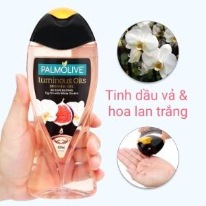 Dầu tắm tươi trẻ làn da Palmolive tinh dầu vả và hoa lan trắng 400ml