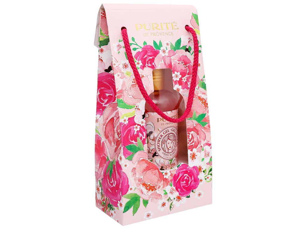 Hộp quà sữa tắm hoa anh đào Purité 250ml 1