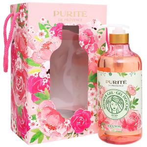 Hộp quà sữa tắm hoa mẫu đơn Purité 850ml