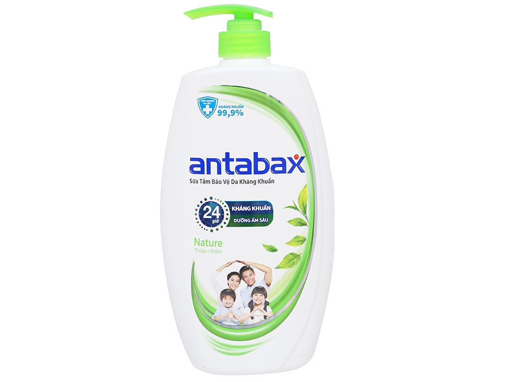 Sữa tắm bảo vệ da kháng khuẩn Antabax Nature thiên nhiên 900ml 1