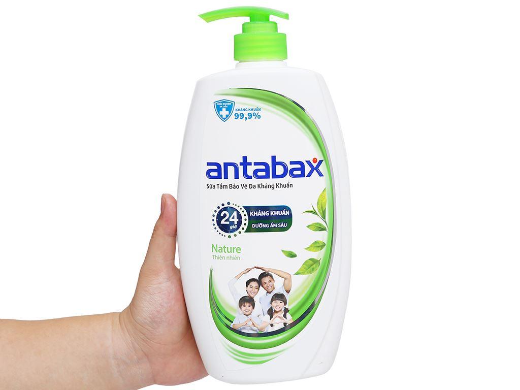 Sữa tắm bảo vệ da kháng khuẩn Antabax Nature thiên nhiên 900ml 4