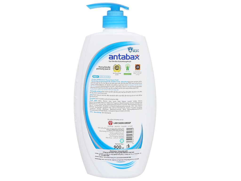 Sữa tắm bảo vệ da kháng khuẩn Antabax Fresh sảng khoái 900ml 2