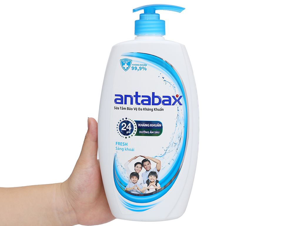 Sữa tắm bảo vệ da kháng khuẩn Antabax Fresh sảng khoái 900ml 4