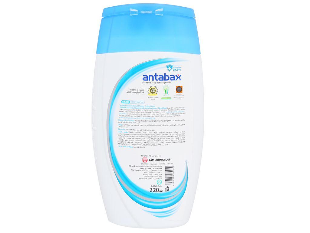 Sữa tắm bảo vệ da kháng khuẩn Antabax Fresh sảng khoái 220ml 2