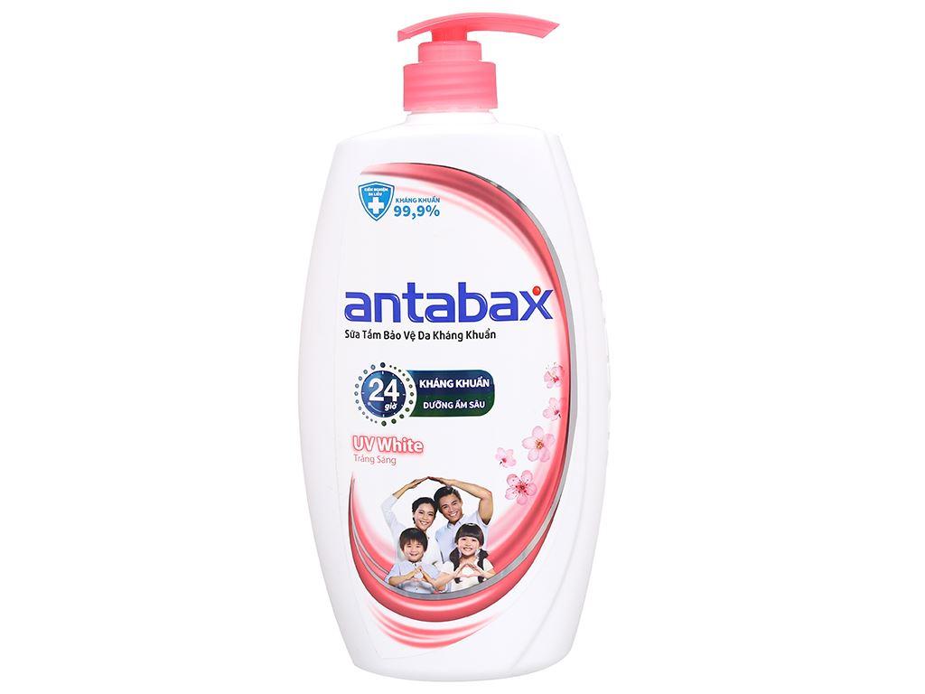 Sữa tắm bảo vệ da kháng khuẩn Antabax UV White trắng sáng 900ml 1