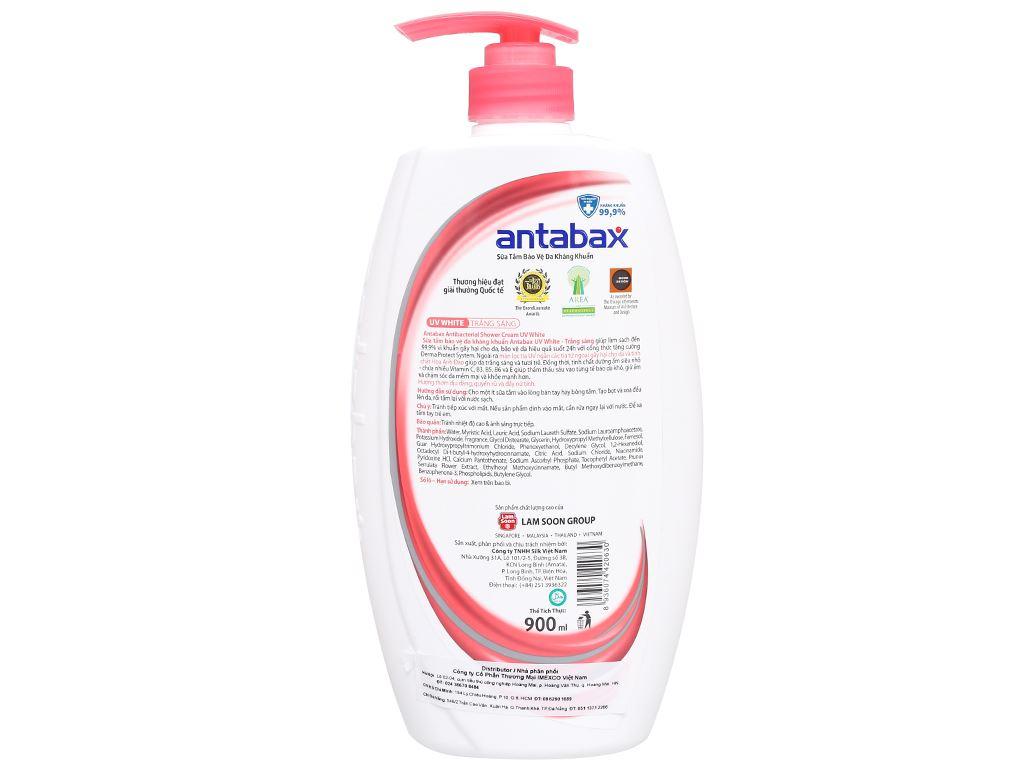 Sữa tắm bảo vệ da kháng khuẩn Antabax UV White trắng sáng 900ml 2