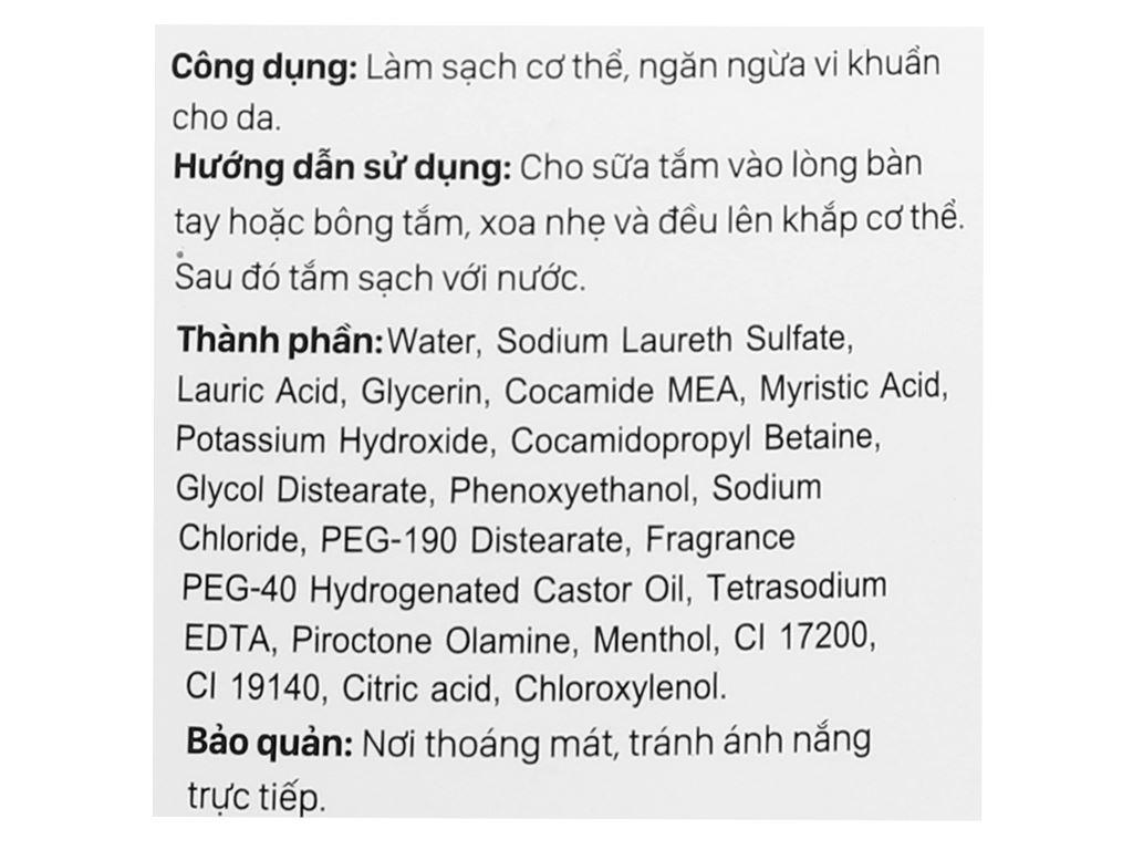Sữa tắm kháng khuẩn Puri 250ml 3