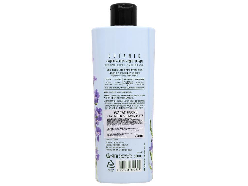 Sữa tắm Shower Mate hương lavender 250ml 2