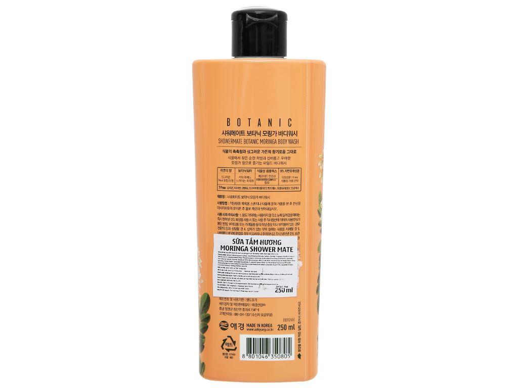 Sữa tắm Shower Mate hương moringa 250ml 2