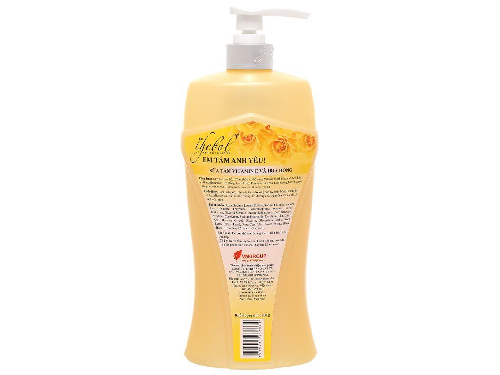 Sữa tắm giữ ẩm The Bol Vitamin E và hoa hồng 900g 2