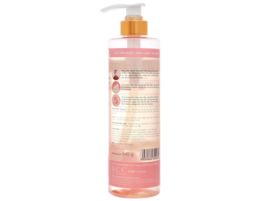 Sữa tắm nước hoa Cindy Bloom Aroma Flower 640g 2