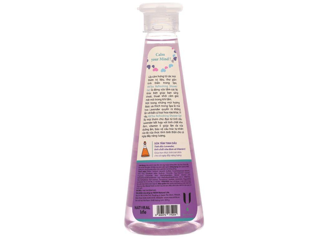 Gel tắm ANSw tinh dầu oải hương 350g 2